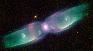 The Twin Jet Nebula as seen by the Hubble Telescope in Dec. 1997