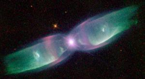 The Twin Jet Nebula as seen by the Hubble Telescope in Dec. 1997