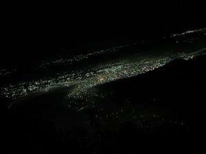 The city lights of Quetzaltenango.
