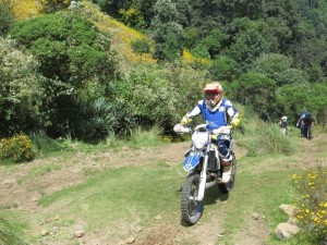 Dodging dirt bikes that were racing the trail as we descended.