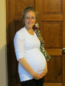 Here I am about 1 week before the birth!